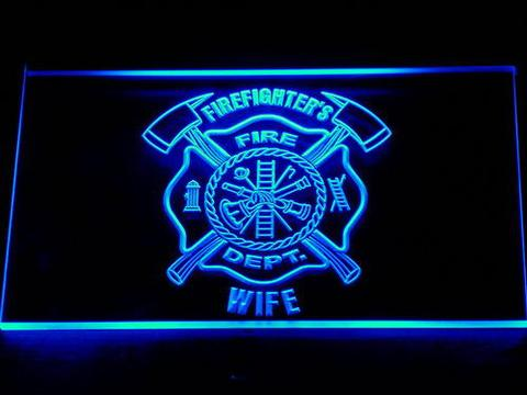 Fire Department Firefighter's Wife LED Neon Sign