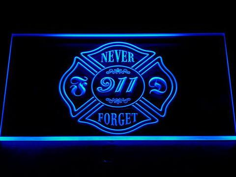 Fire Department Never Forget 911 LED Neon Sign