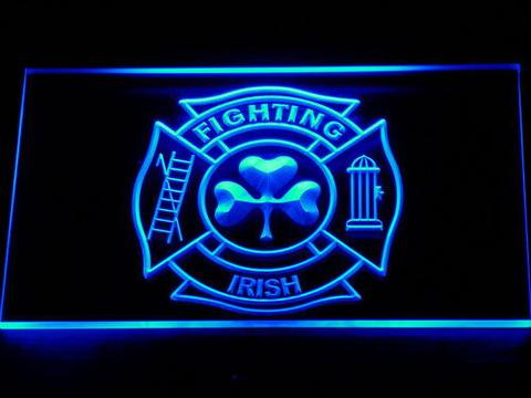 Fire Department Shamrock LED Neon Sign