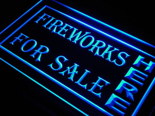Fireworks For Sale Here Display neon Light Sign