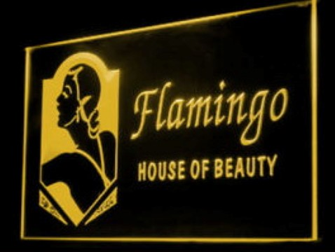 Flamingo House of Beauty LED Neon Sign