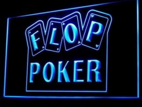 Flop Poker Game LED Neon Sign