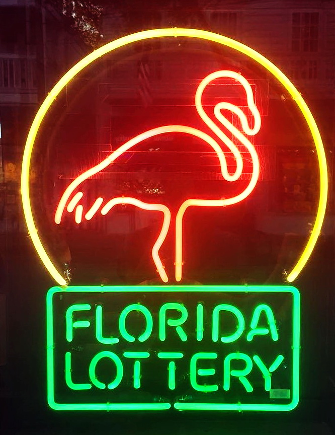Florida Lottery Neon Sign