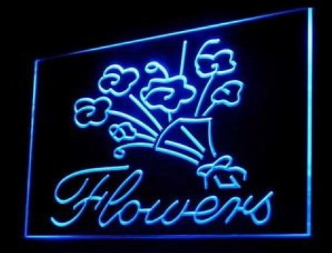 Flowers Florist LED Neon Sign