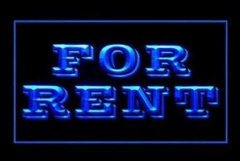 For Rent LED Neon Sign