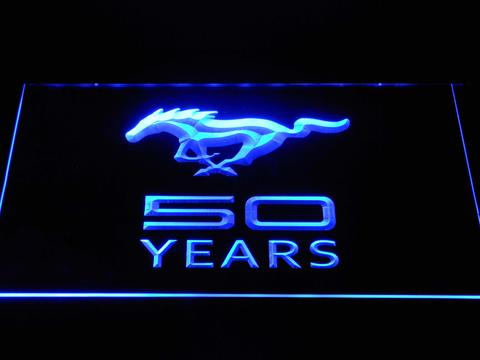 Ford Mustang 50 Years LED Neon Sign