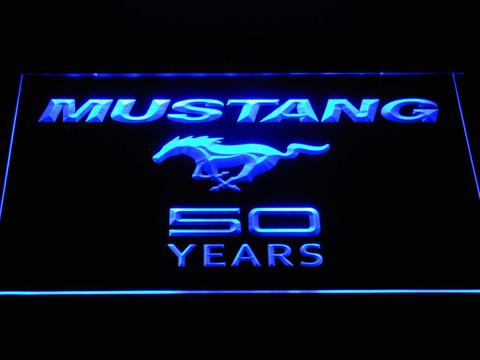 Ford Mustang 50 Years Wordmark LED Neon Sign