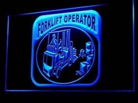 Forklift Operator Driver Warehouse Service LED Neon Sign