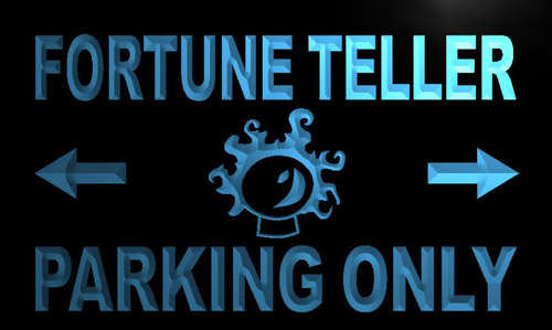 Fortune Teller Parking Only Neon Light Sign