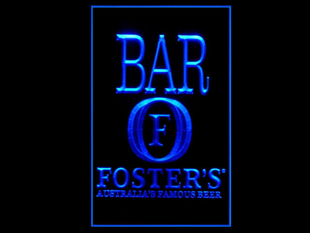 Fosters Australias Famous Beer BAR Tall Sign
