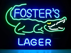 Fosters Lager Croc Beer Classic Neon Light Sign 17 x 14