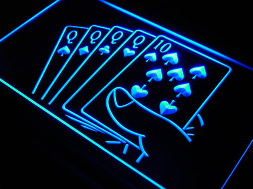Four of a Kind Poker Casino Neon Light Sign