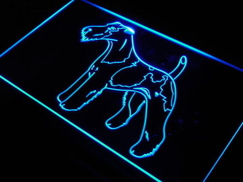 Fox Terrier Wire Breed Dog Bar Neon Light Sign