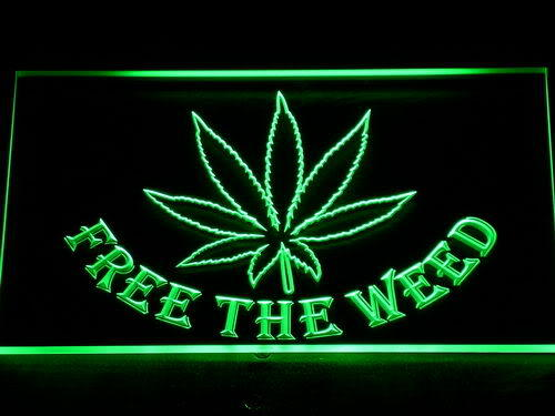 Free the Weed Marijuana High Life neon Sign