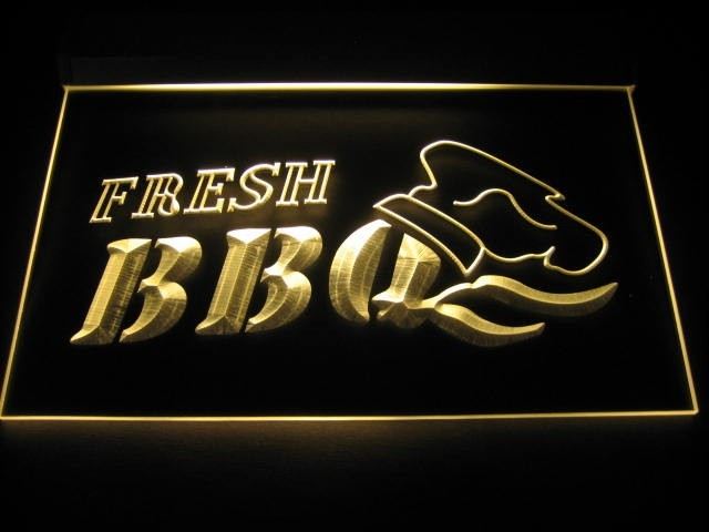 Fresh BBQ Logo Beer Bar Pub