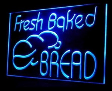 Fresh Baked Bread Bakery Shop LED Neon Sign