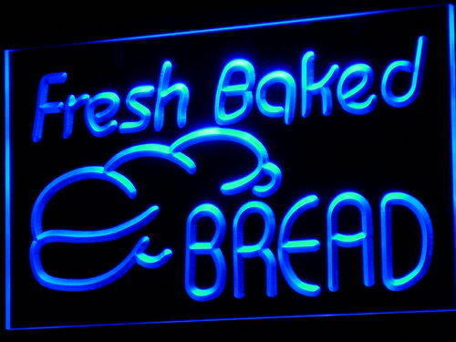 Fresh Baked Bread Bakery Shop Neon Light Sign