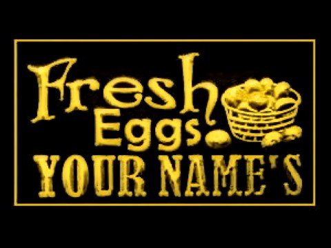 Fresh Eggs Custom Name LED Neon Sign
