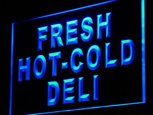 Fresh Hot Cold Deli Food Cafe Neon Light Sign