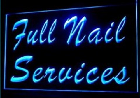 Full Nail Services LED Neon Sign