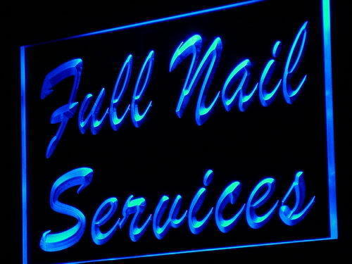 Full Nail Services Beauty Shop Neon Light Sign