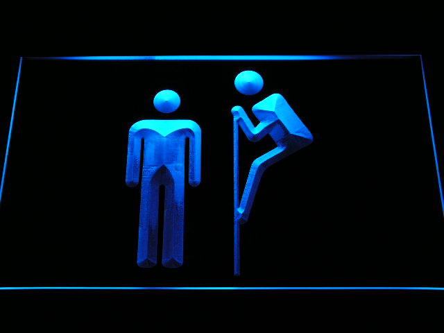 Funny Gay Toilet Decor Neon Light Sign