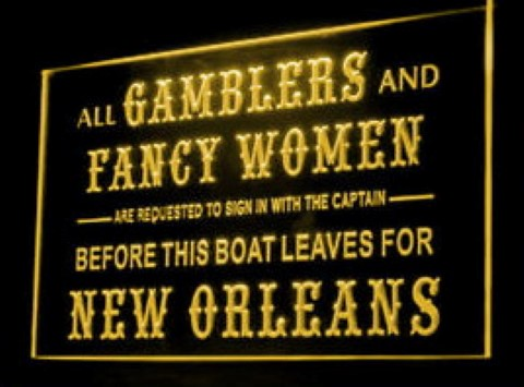 GAMBLERS & FANCY WOMEN LED Neon Sign