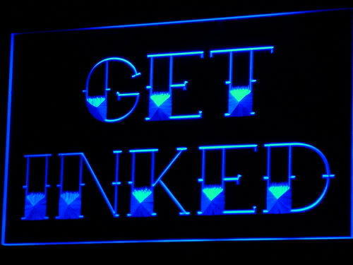 Get Inked Tattoo Piercing Shop Neon Light Sign