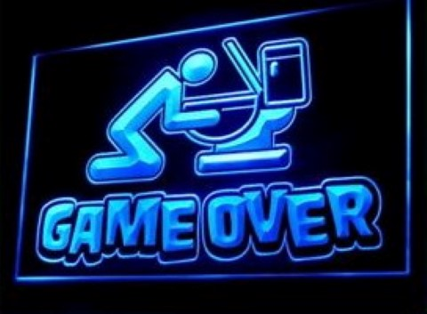 Game Over Drunk LED Neon Sign