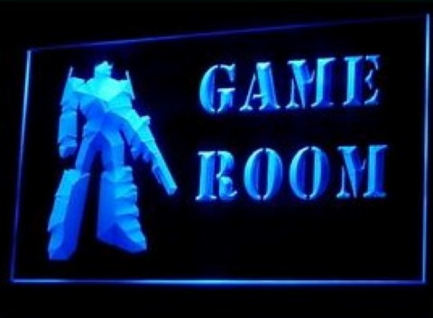 Game Room Toy Robot LED Neon Sign