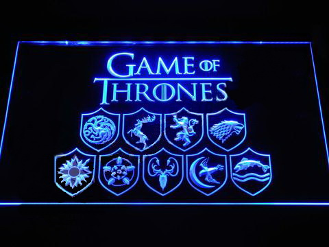 Game of Thrones Family Sigils LED Neon Sign