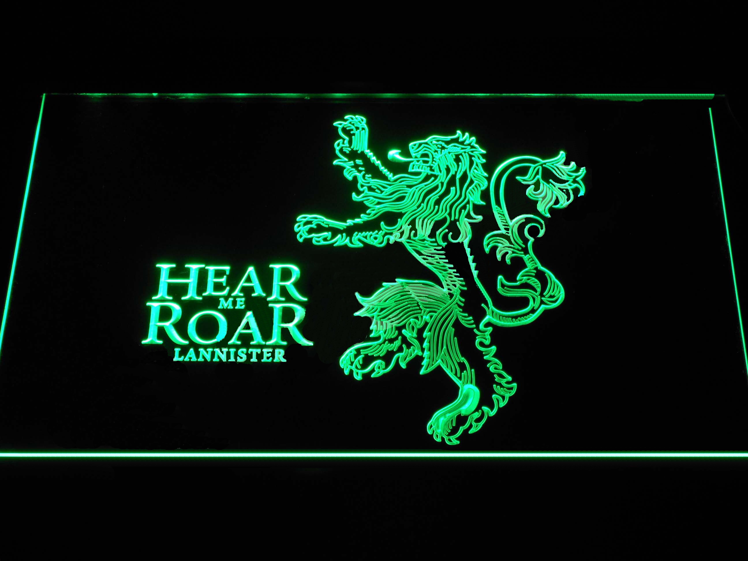Game of Thrones Lannister Hear Me Roar LED Neon Sign