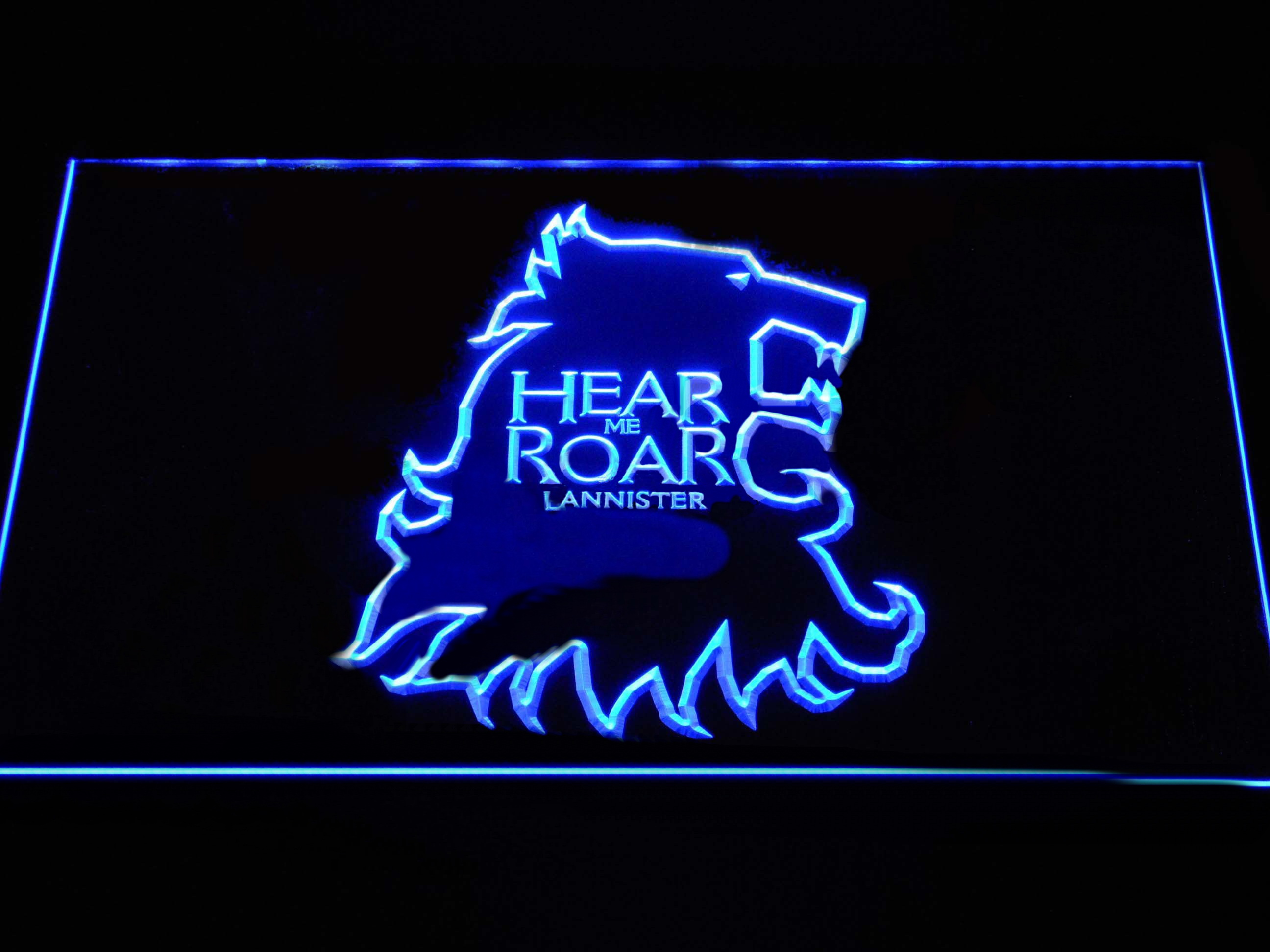 Game of Thrones Lannister Hear Me Roar Outline LED Neon Sign