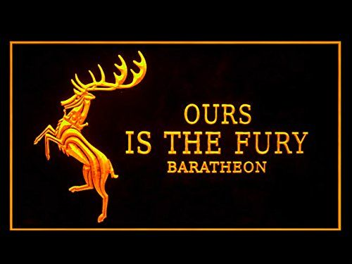 Game of Thrones Ours Is The Fury LED Neon Sign