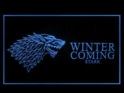 Game of Thrones Stark Winter is Coming 2 LED Neon Sign