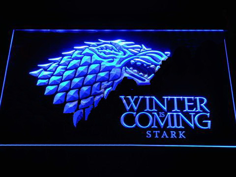 Game of Thrones Stark Winter is Coming LED Neon Sign