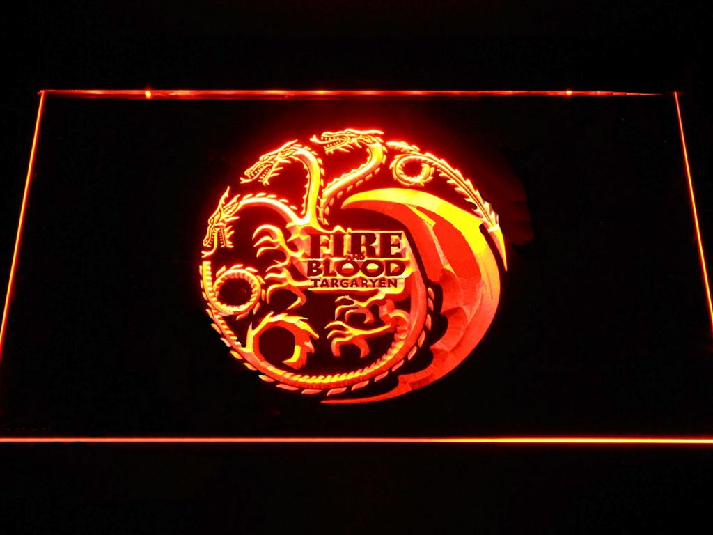Game of Thrones Targaryen Fire and Blood LED Neon Sign 1
