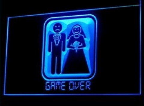 Game over LED Neon Sign
