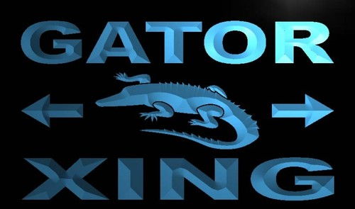 Gator Xing Neon Light Sign