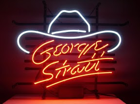 George Stratt Hat Logo Classic Neon Light Sign 17 x 14