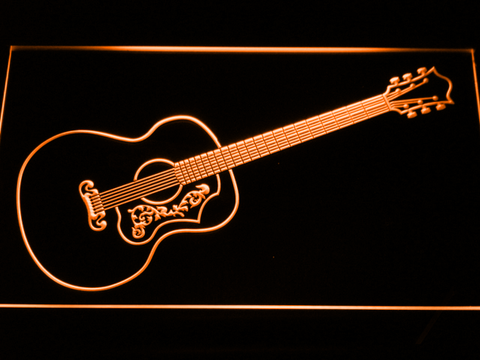 Gibson Vintage Acoustic LED Neon Sign