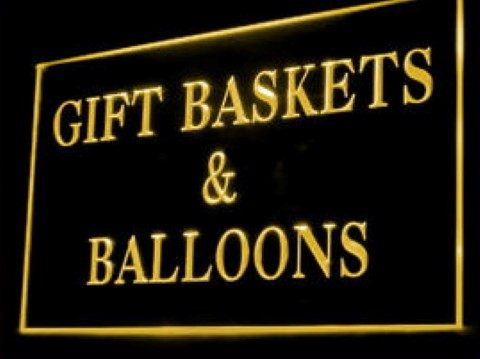 Gift Baskets Balloons LED Neon Sign