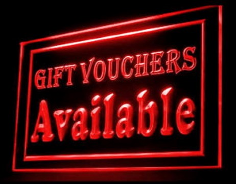 Gift Vouchers Available Discount LED Neon Sign