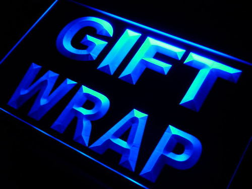 Gift Wrap Display Neon Light Sign