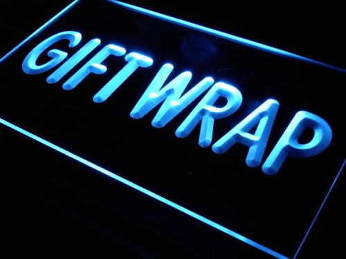 Gift Wrap Display Supply Shop Neon Light Sign