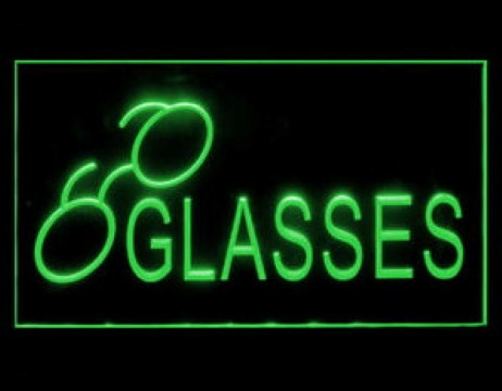 Glasses Optometrist Eye Test LED Neon Sign