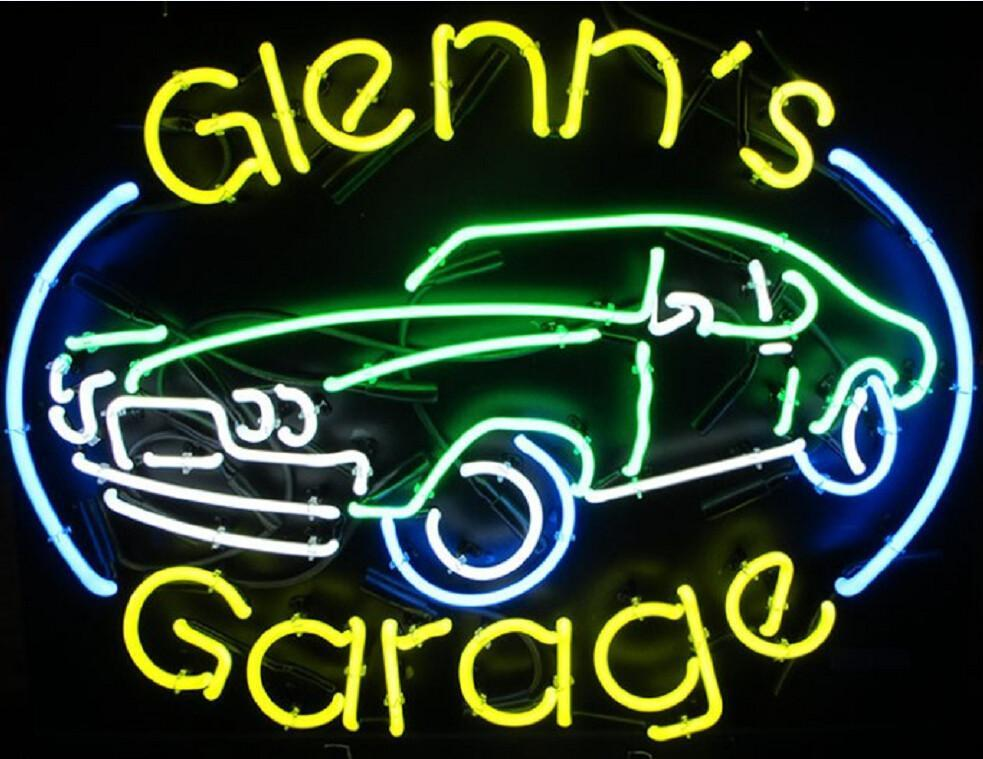 Glenns Custom Garage Neon Sign