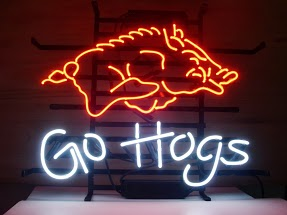 Go Hogs Classic Neon Light Sign 17 x 14