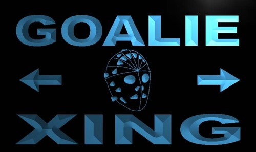 Goalie Xing Neon Light Sign