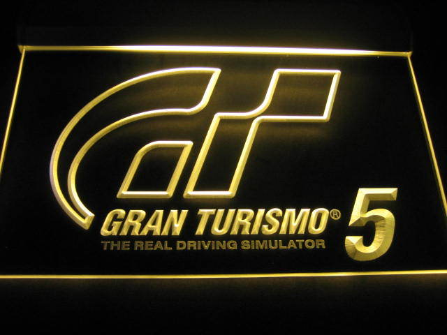 Gran Turismo 5 Logo Neon Light Sign